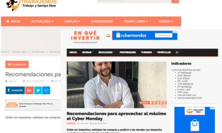 Sitios web, Noviembre 2017: Recomendaciones para aprovechar el Cyber Monday