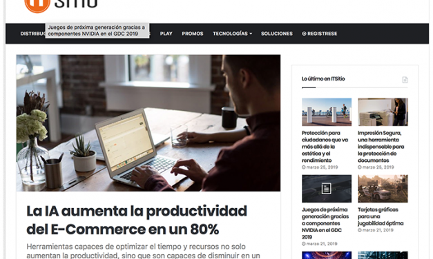 it Sitio, febrero 2019: La IA aumenta la productividad del E-Commerce en un 80%