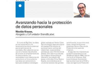 El Mercurio, Junio 2018: Avanzando hacia la protección de datos personales