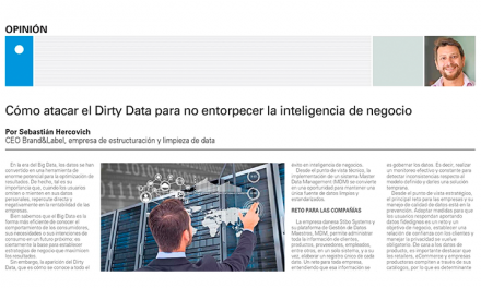 El Mercurio: Cómo atacar el Dirty Data para no entorpecer la inteligencia de negocio