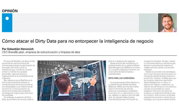 El Mercurio, Marzo 2018: Cómo atacar el Dirty Data para no entorpecer la inteligencia de negocio