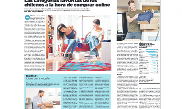 La Tercera: Las categorías favoritas de los chilenos a la hora de comprar online