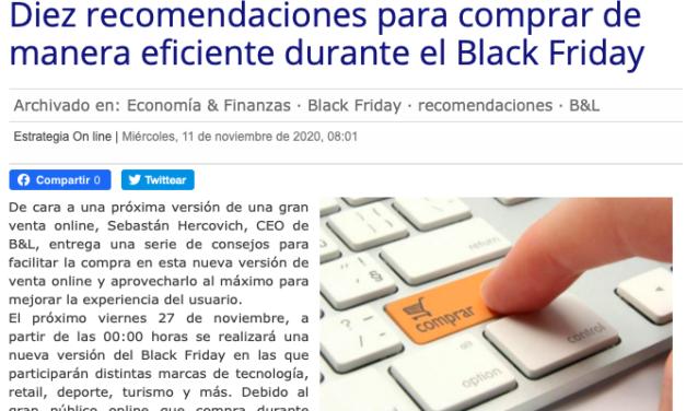 Diario Estrategia: Diez recomendaciones para comprar de manera eficiente durante el Black Friday